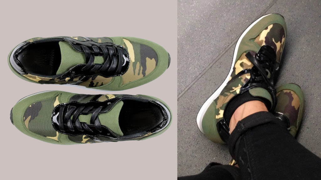 Vegan Camouflage Trainers