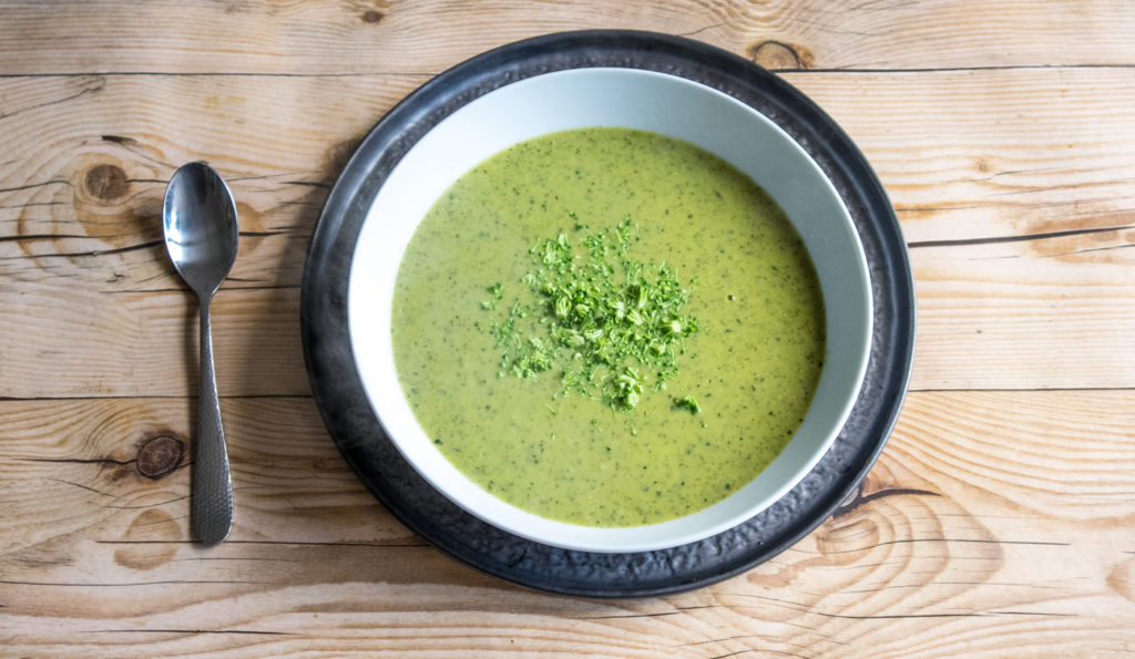 Broccoli and Miso Soup