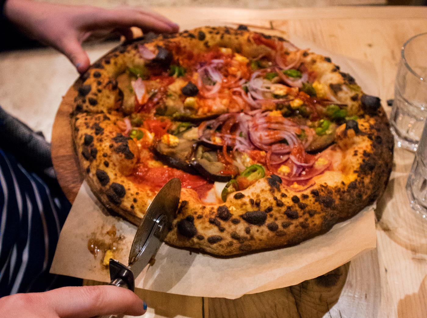 Vegan pizza from Purezza